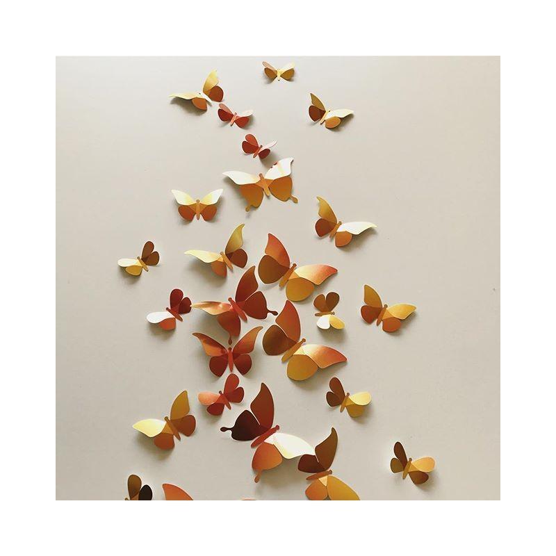 Papillons en papier - Jaune