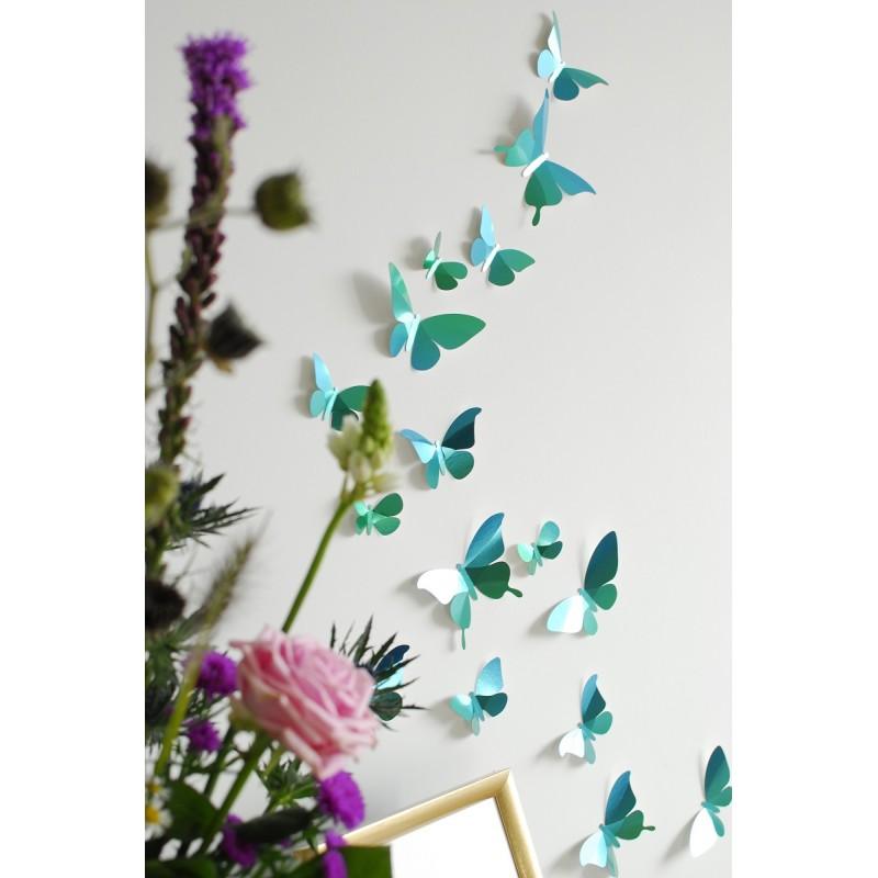 Papillons en papier - Vert