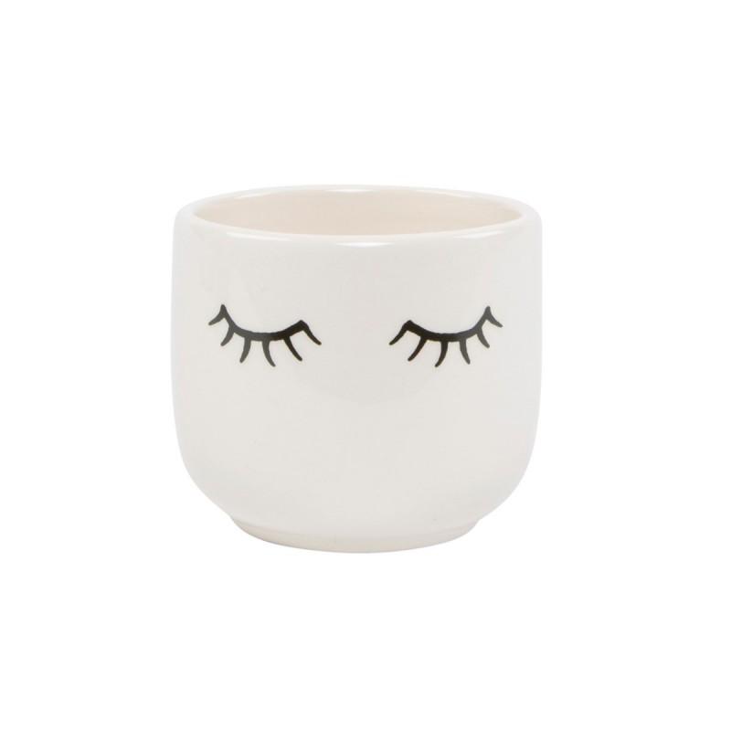 Mini pot avec des yeux