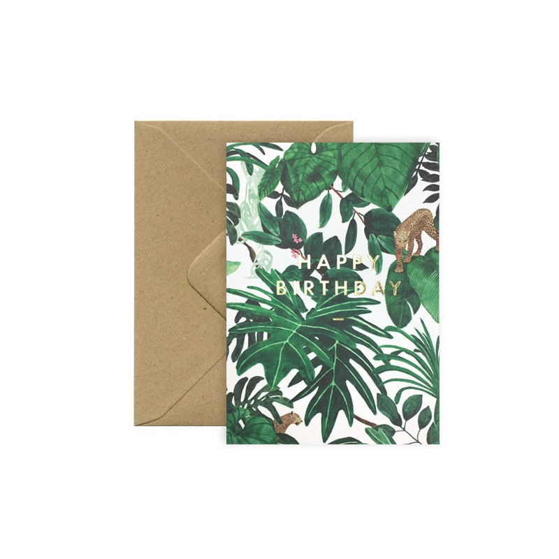 Carte Happy Birthday - Jungle