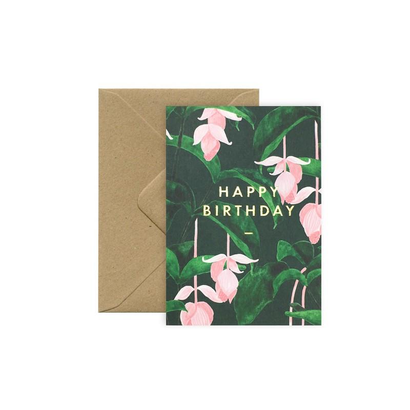 Carte Happy Birthday - Medinilla