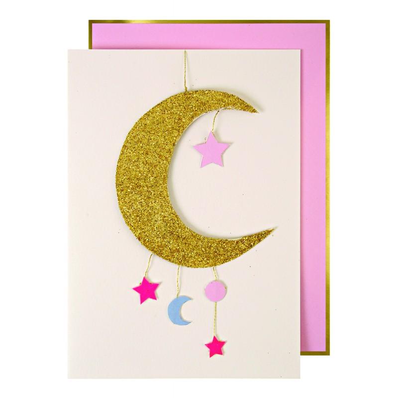 Carte Félicitations Mobile - Lune