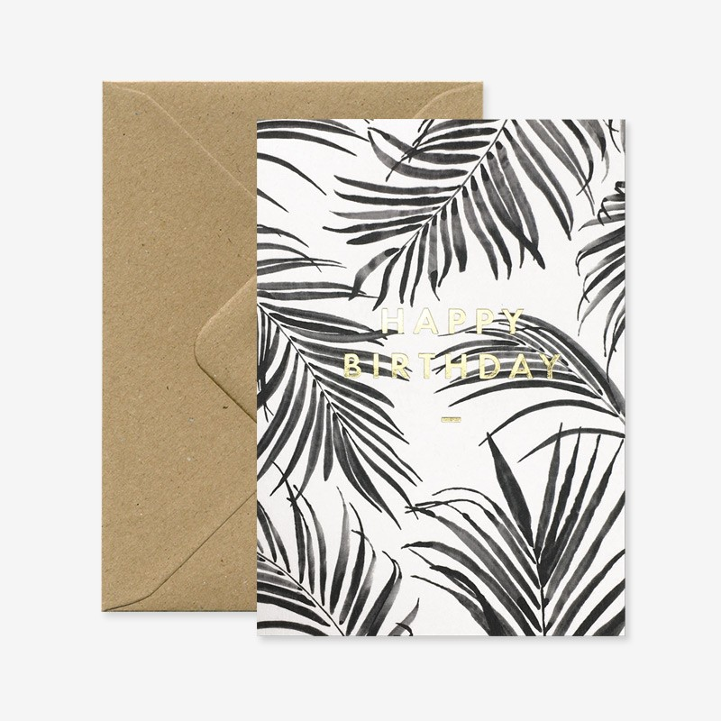 Carte Happy Birthday - Palm tree