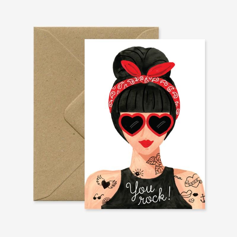 Carte Hipster Girl