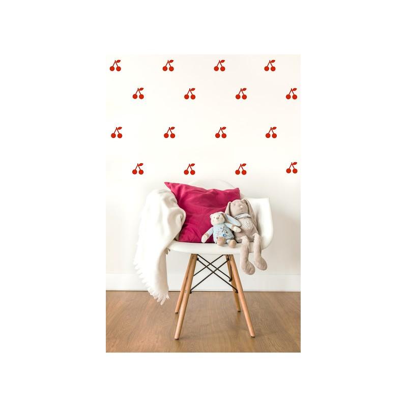 Stickers Cerises - Rouge