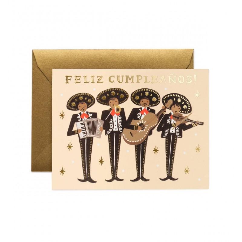 Carte d'anniversaire - Mariachi