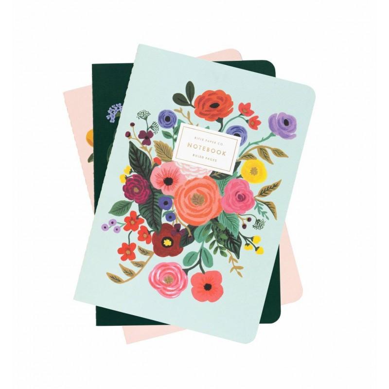 Set de 3 carnets - Garden Party
