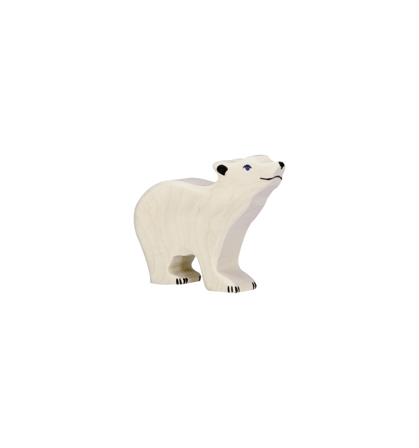 figurine bois-petit ours polaire-holztiger-sous les étoiles exactement 50b290c7b46