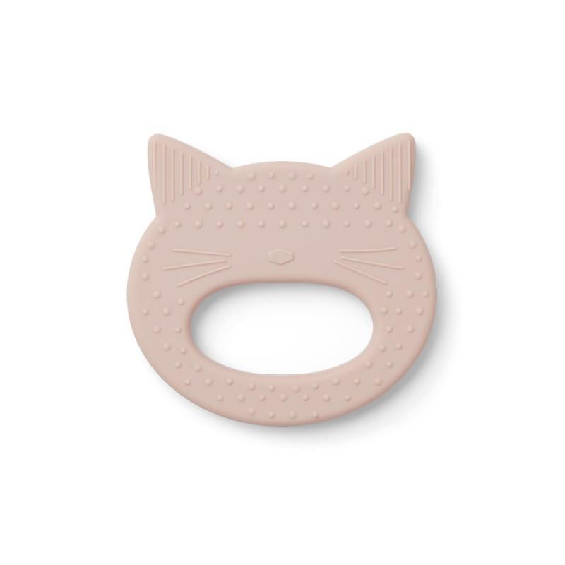 Anneau de dentition - Chat rose