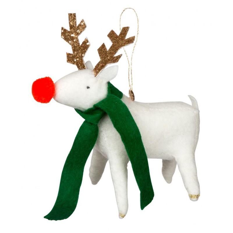 Décoration de Noël - Renne à l'écharpe verte