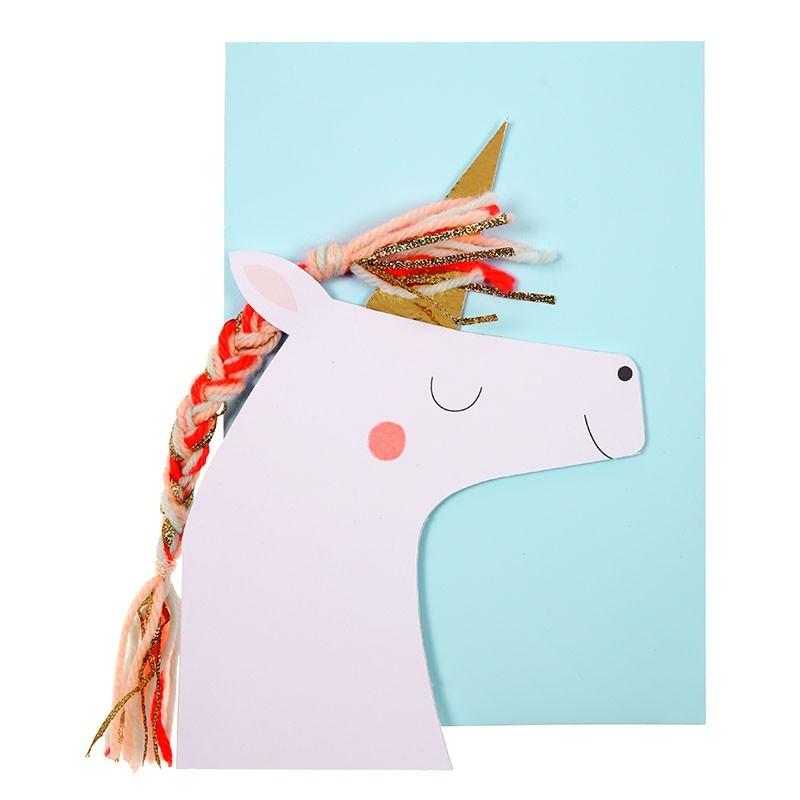 Carte Happy Bithday - Licorne
