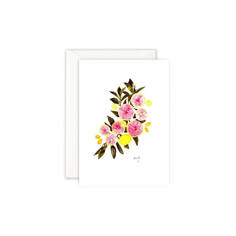 Carte - Agrumes roses