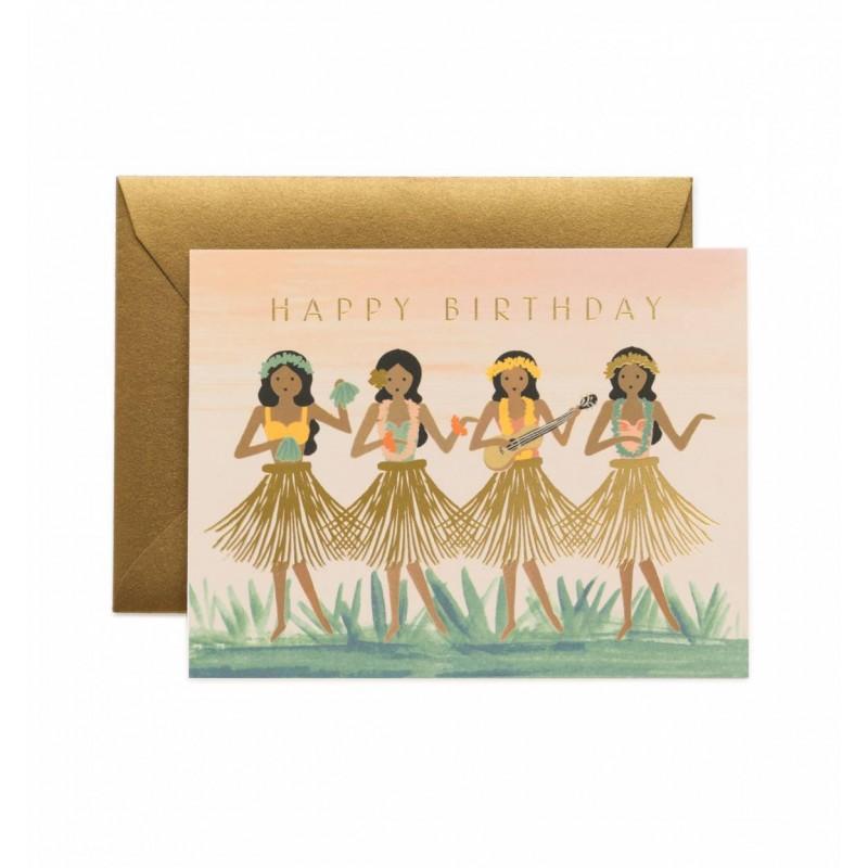 Carte d'anniversaire - Hula
