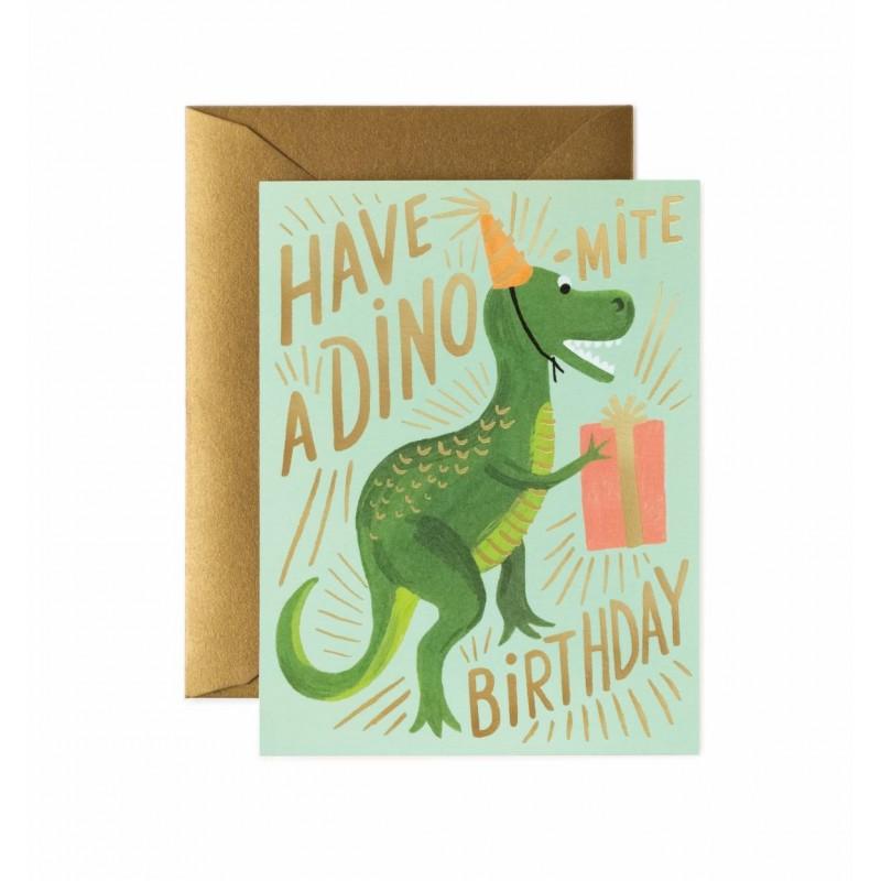 Carte d'anniversaire - Dino-mite