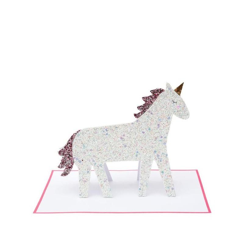 Carte d'anniversaire à poser - Licorne