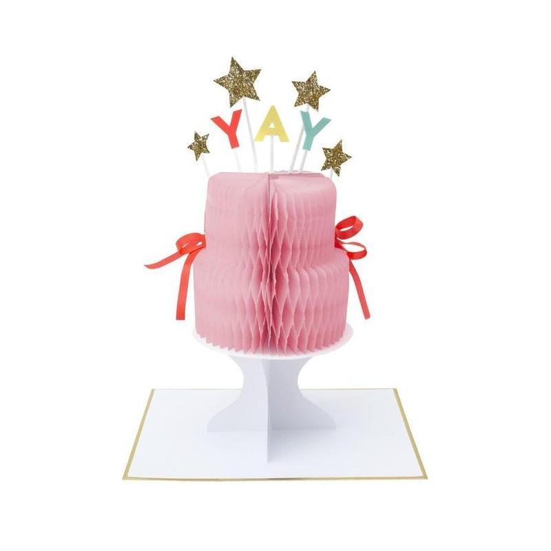 Carte d'anniversaire à poser - Gâteau