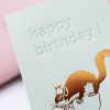 Carte Happy birthday - Ecureuil