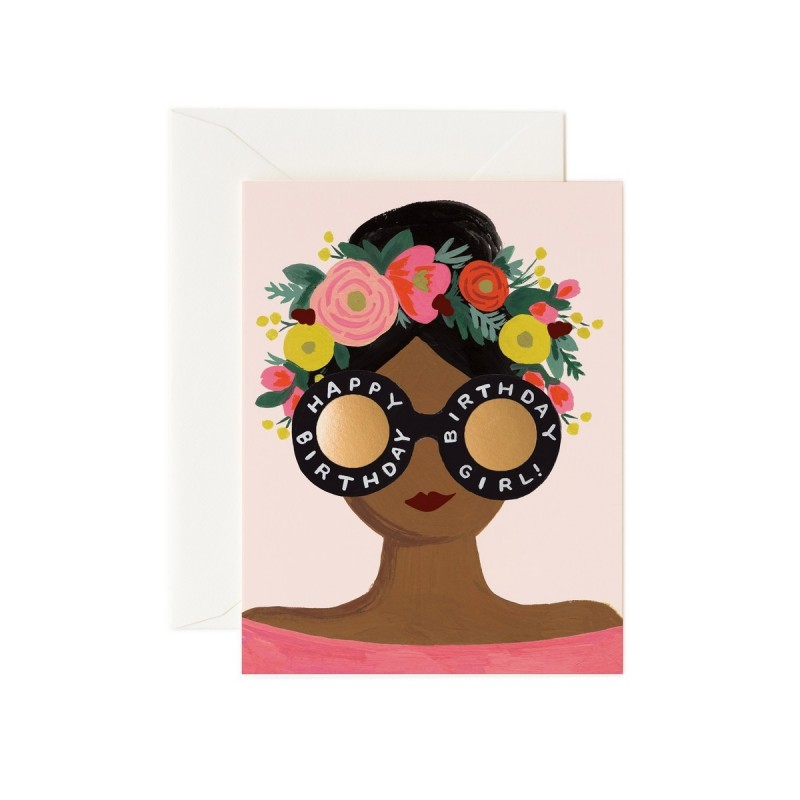 Carte Flower crown birtday
