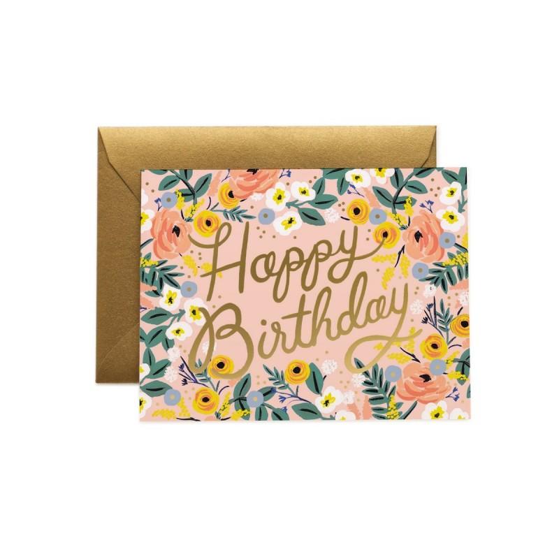 Carte d'anniversaire - Fleurs