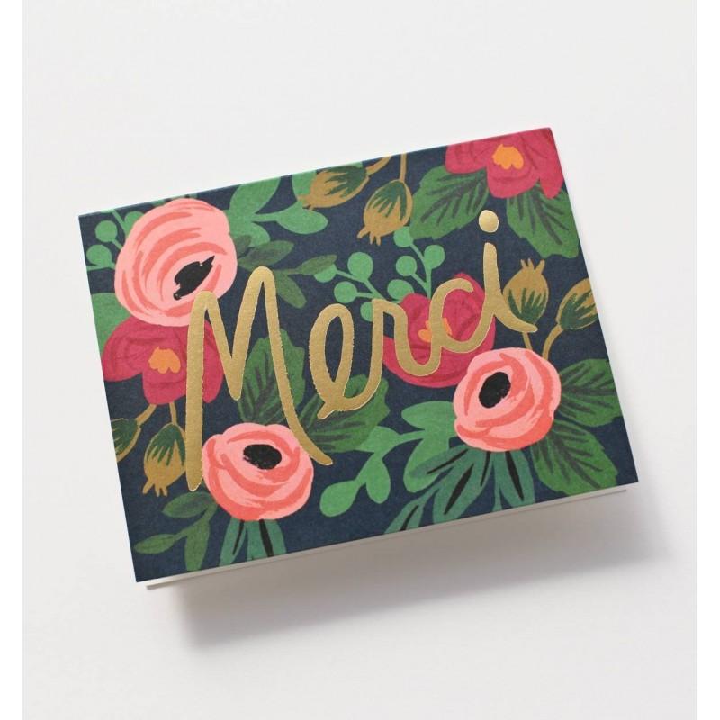 Carte Merci! - Fleurs
