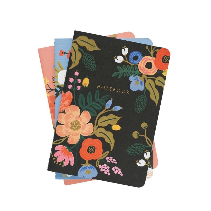 Set de 3 carnets - Lively floral