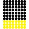 Stickers Pois - Jaune et Noir