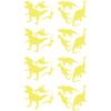 Stickers Dinos - Jaune
