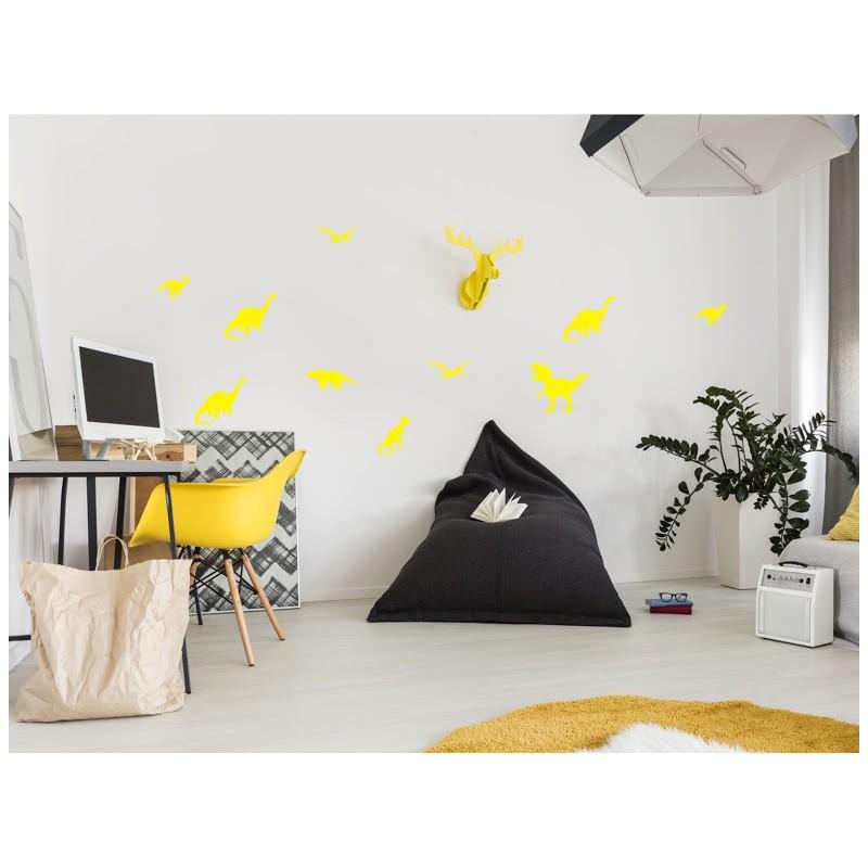 Stickers dinos jaune sous les etoiles exactement for Decoration murale jaune