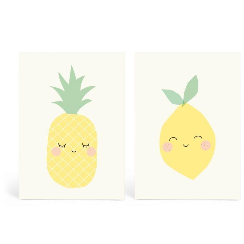 Lot de 2 cartes Yellow Friends