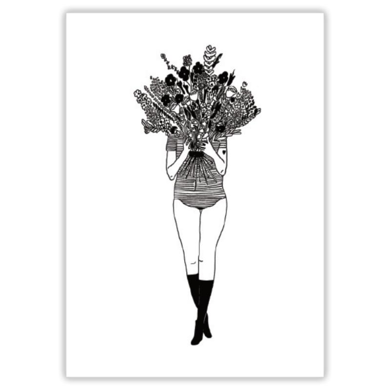 Affiche A4 - Flower girl