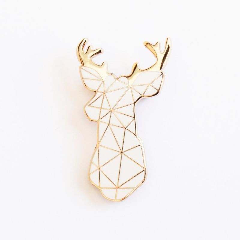 Broche Cerf blanc