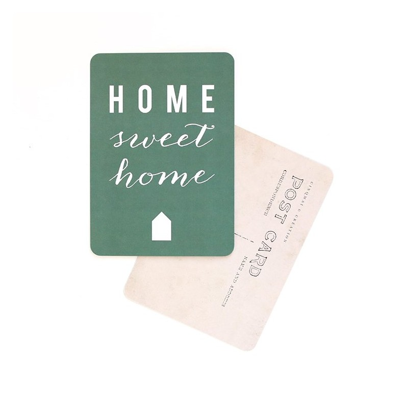 Carte Postale Home Sweet Home - Green
