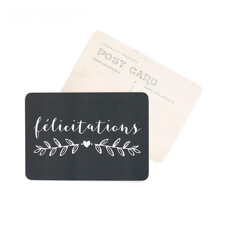 Carte Postale Félicitations - Ardoise