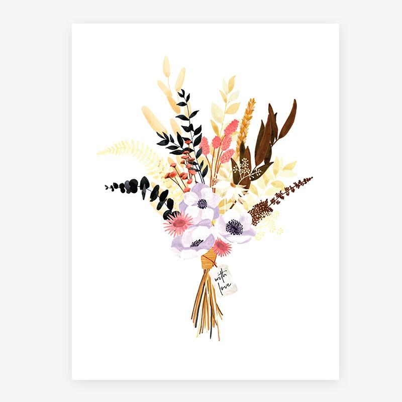 Affiche Bouquet moderne