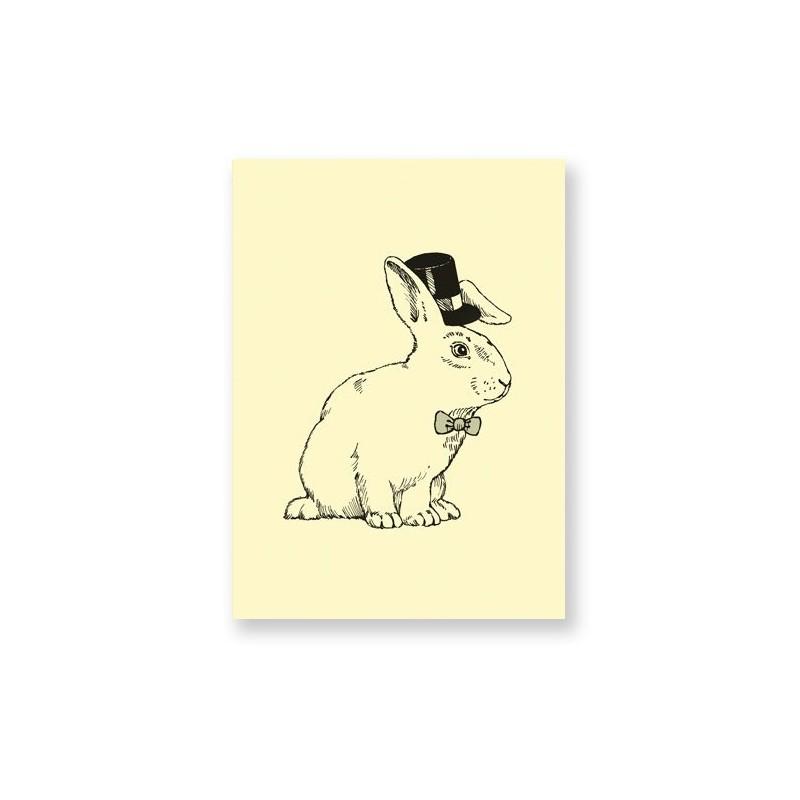 Carte postale - Lapin magicien