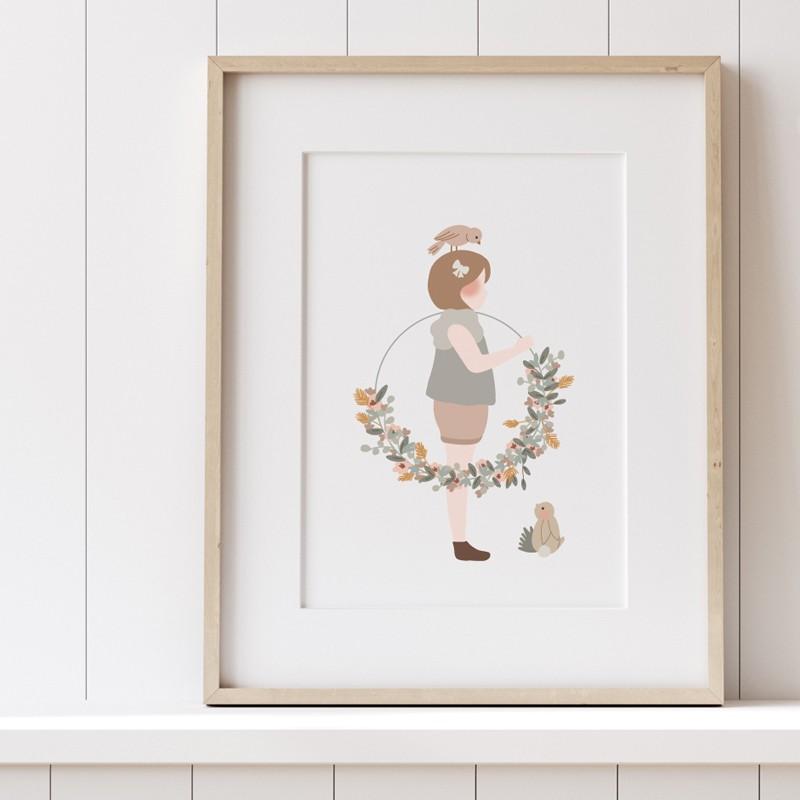 Affiche - La petite fille à la couronne