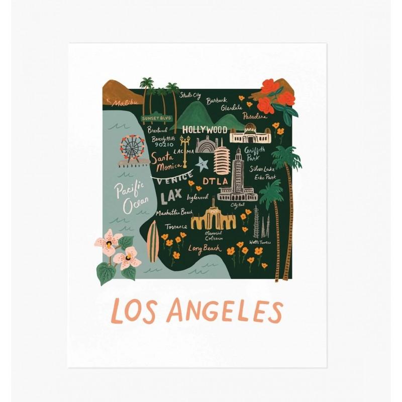 Affiche 20 x 25cm - Los Angeles