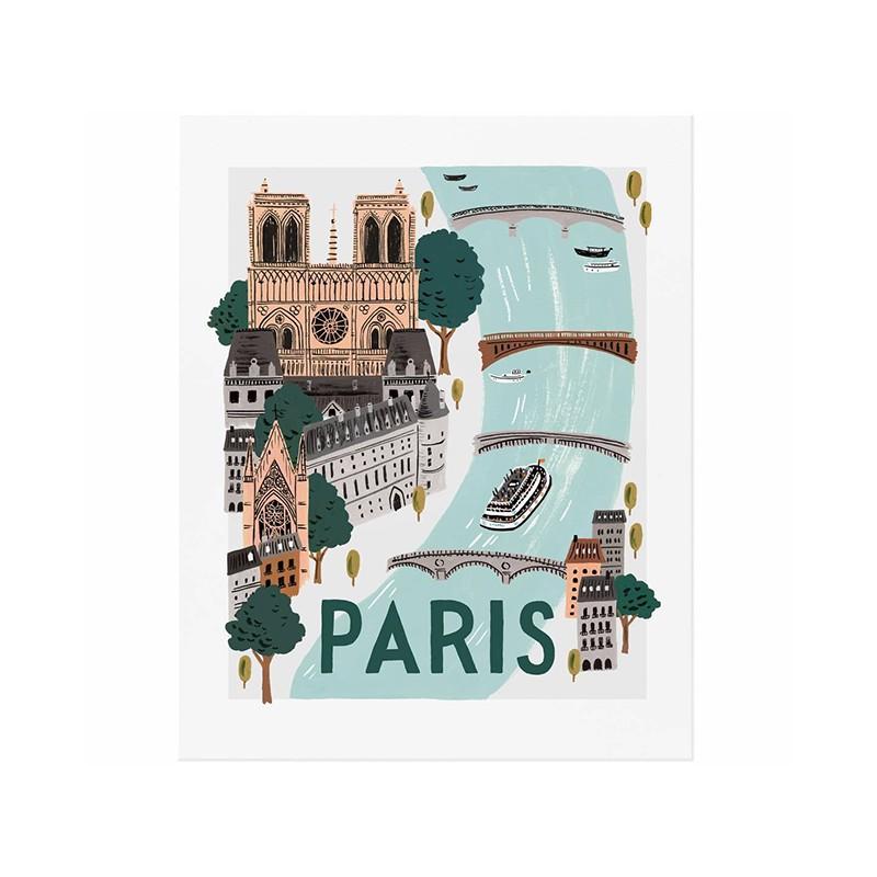 Affiche 20 x 25cm - Paris