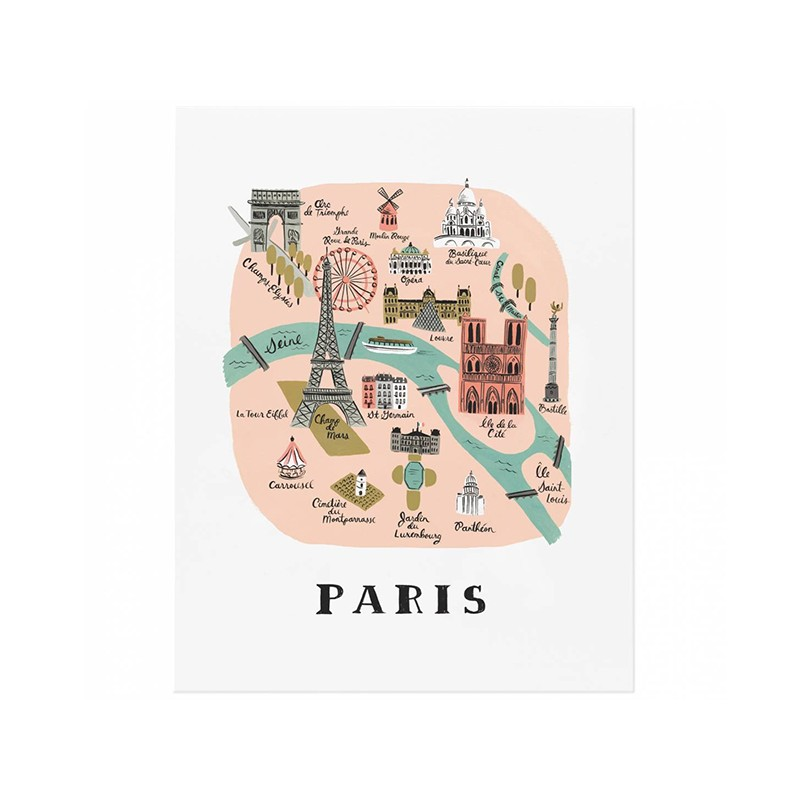Affiche 20 x 25cm - Monuments de paris