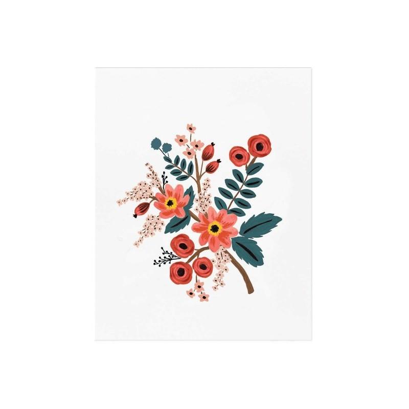 Affiche 20 x 25cm - Fleurs Coral Botanical