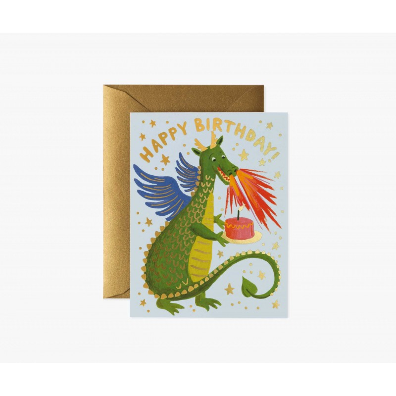 Carte Happy birthday - Dragon