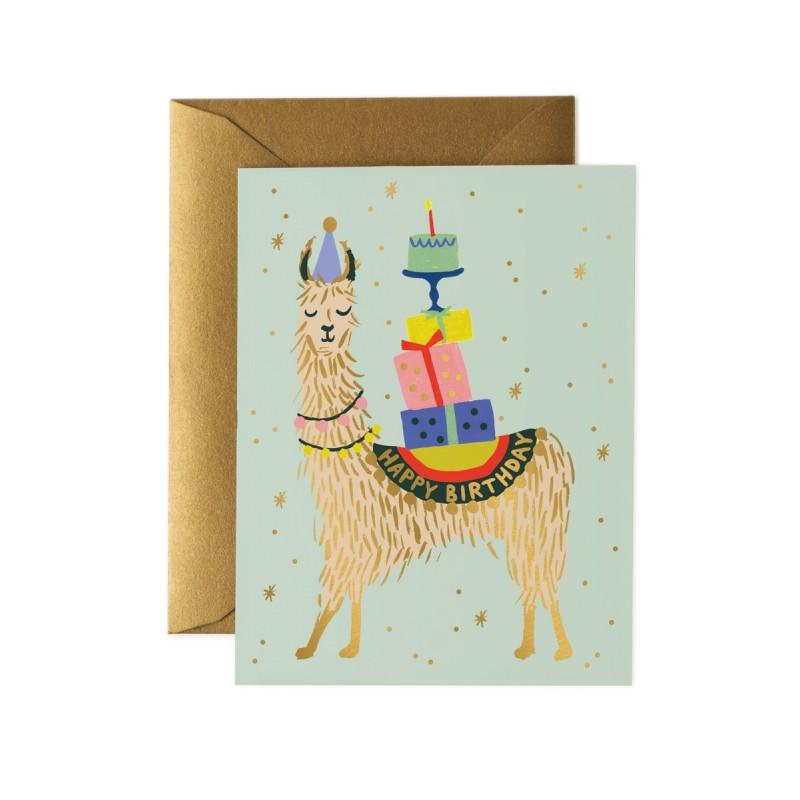 Carte Happy birthday - Lama
