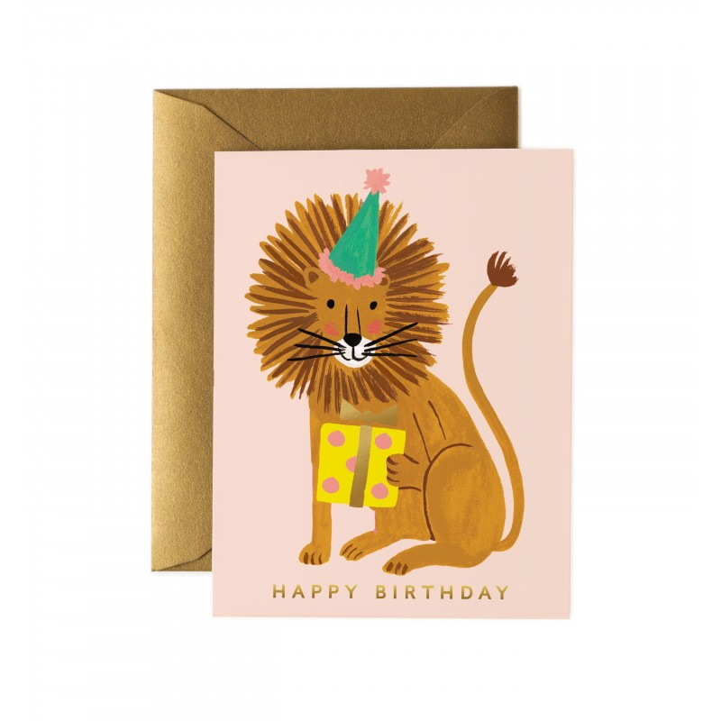 Carte Happy birthday - Lion