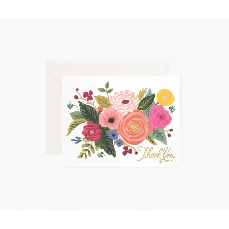 Carte Thank you - Juliet rose