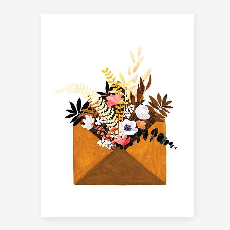 Affiche Flower enveloppe - PM