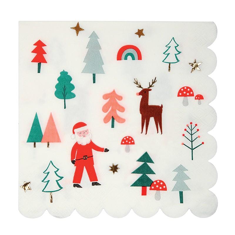 Grandes serviettes -  Noël