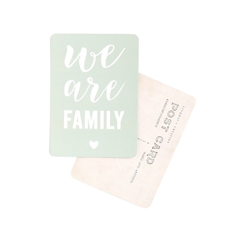 Carte Postale We are Family - Smoke Green